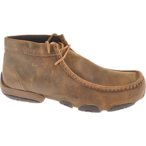 Twisted X Boots Men's MDM0003 Driving Moc Bomber Leather