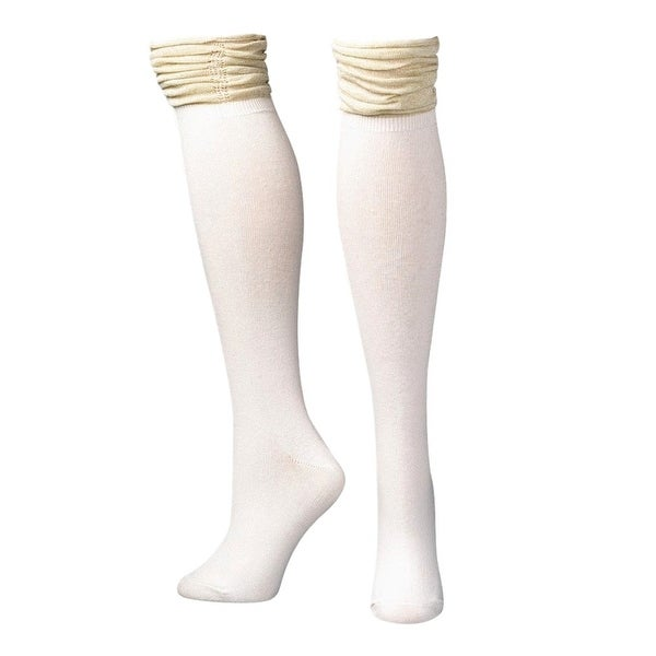 Blazin Roxx Socks Womens Over Knee Stack Sparkle Cream