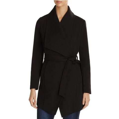 T Tahari Women's Abbey Draped Wrap Coat (XL)