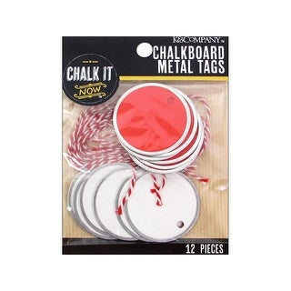 K&Co Chalk It Now Tag Metal Sm Circle Red