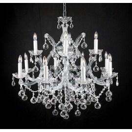 Swarovski Crystal Trimmed Chandelier Lighting New Lighting With Faceted Crystal Balls