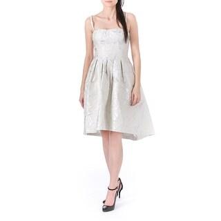 Vera Wang Womens Metallic Strapless Cocktail Dress - 6