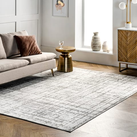 nuLOOM Annie Modern Crosshatch Abstract Area Rug