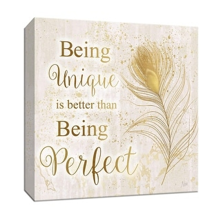 "PTM Images 9-147237  PTM Canvas Collection 12"" x 12"" - ""Feather Perfect"" Giclee Sayings & Quotes Art Print on Canvas"