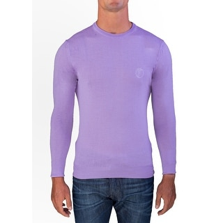Versace Men's Medusa Head Crew Neck Sweater Lavendar