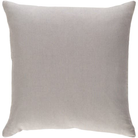 Decorative Villa Light Grey 18-inch Throw Pillow Cover
