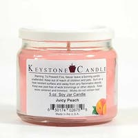 1 Pc 5 oz Juicy Peach Soy Jar Candles 3.5 in. diameter x 2.75 in. tall