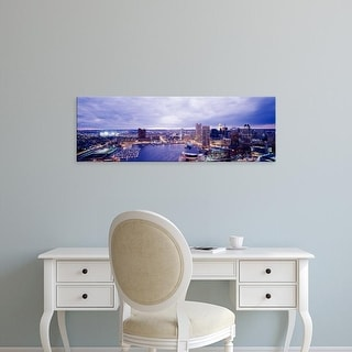 Easy Art Prints Panoramic Images's 'USA, Maryland, Baltimore, cityscape' Premium Canvas Art