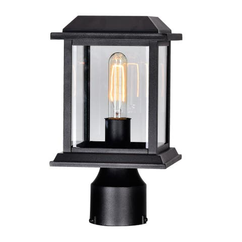 Blackbridge 1 Light Outdoor Lantern Head with Black finish - 6 inch