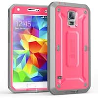 Galaxy S5 Case, SUPCASE, Samsung Galaxy S5 Case, Unicorn Beetle PRO Series Full-body with Built-in Screen- Pink/Gray