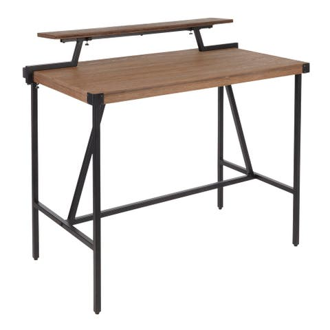Carbon Loft Gunn Stand Up Desk with Removable Shelf