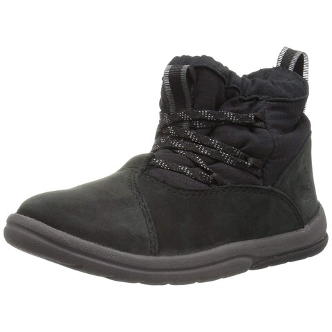 Timberland Kids' Toddle Tracks Warm Fabric Leather Bootie Snow Boot - 11.5 m us little kid
