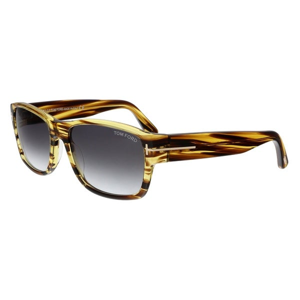 Tom Ford FT0445 50B Mason Striped Brown Rectangular Sunglasses - No Size 8508741a718c4