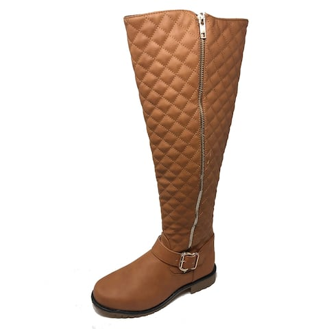 Ameta Tan Quilted Honey Boots Women