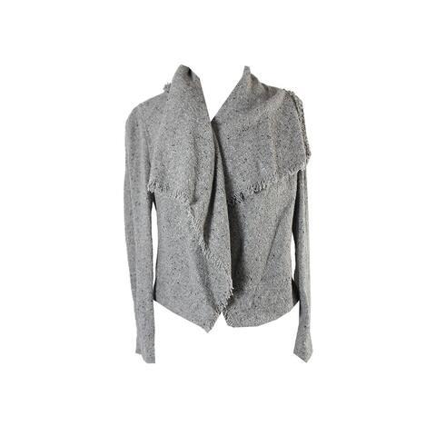 Lauren Ralph Lauren Grey Fringe Jacket M