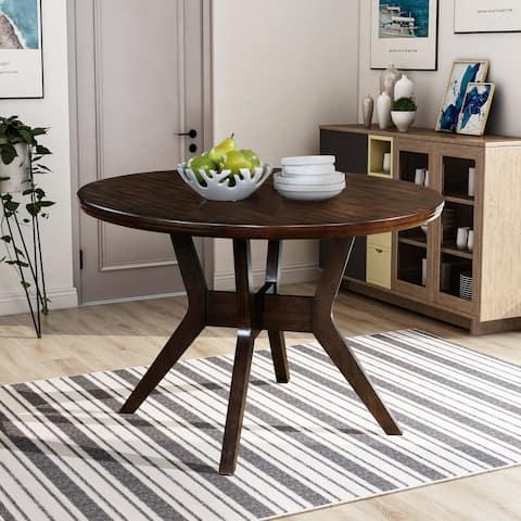 Furniture of America Yria Mid-Century Modern Walnut Dining Table