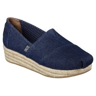 BOBS from Skechers Women's Highlights Moments Wedge, Denim
