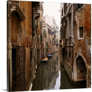 """Canal scene, Venice"" Canvas Wall Art"