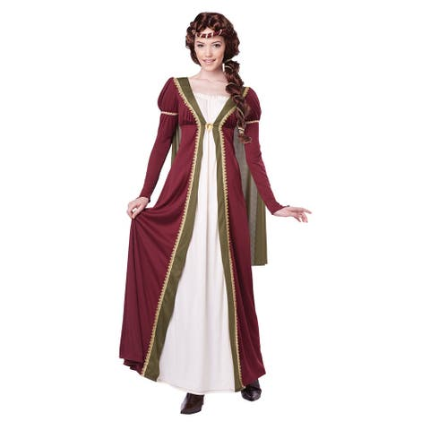 Womens Medieval Maiden Halloween Costume