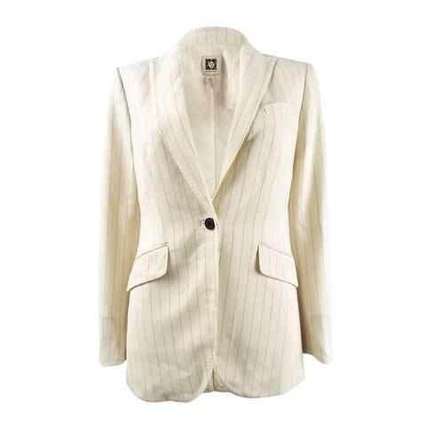 Anne Klein Women's One-Button Striped Jacket - Anne White