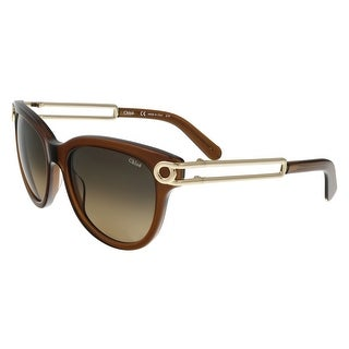 Chloe CE679/S 210 Brown Wayfarer Sunglasses - 54-18-135