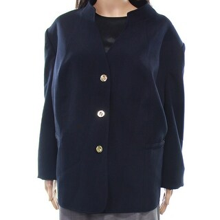 Tahari by ASL NEW Blue Navy Women's Size 24W Plus Three-Button Jacket