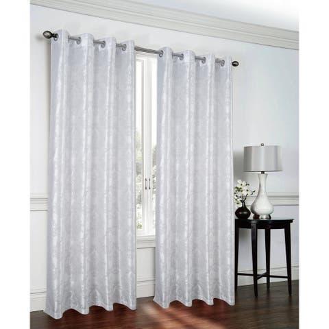 Lakeside Metallic Faux Silk Single Grommet Curtain Panel - (1x) 54 x 90 in.
