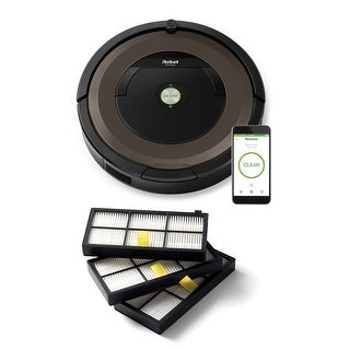 Roomba 890 w/ AeroForce High-Efficiency 800 & 900 Series Roomba Filters (3-Pack)