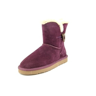 Style & Co Tiny Women Round Toe Suede Purple Winter Boot
