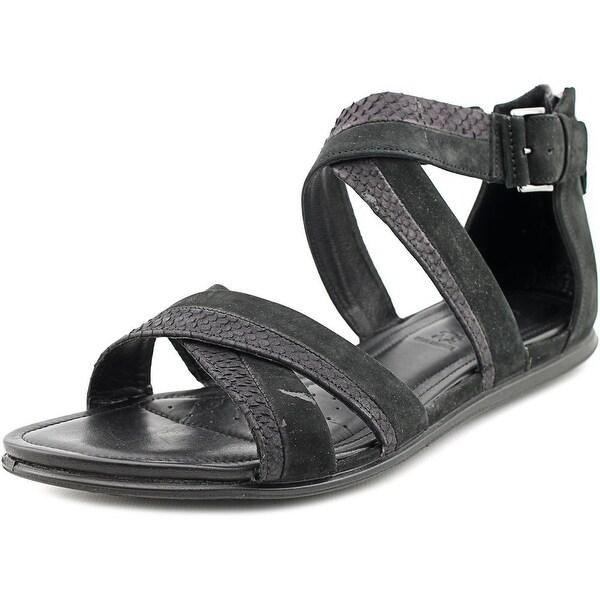 Ecco Touch sandal Women Open Toe Suede Black Gladiator Sandal