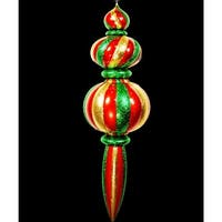 """Christmas at Winterland WL-ORN-52-GRG 52"""" Green, Red and Gold Plastic Oversized Shatterproof Finial - Green/Red/Gold - N/A"""