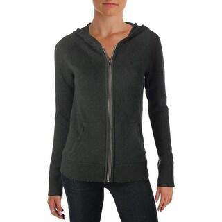 Aqua Womens Hooded Sweater Cashmere Distressed