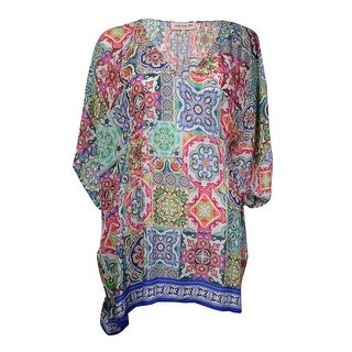 Nanette Lepore Women's Greek Tiles Caftan Swim Cover