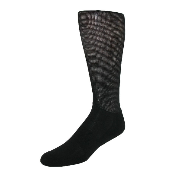 Windsor Collection Men's CoolMax Compression Travel Crew Socks