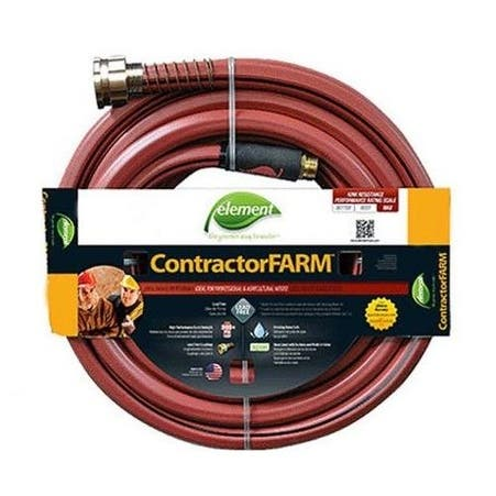 "Element ELCF58050 Contractor Farm Water Hose Brick, 5/8"" x 50', Red"