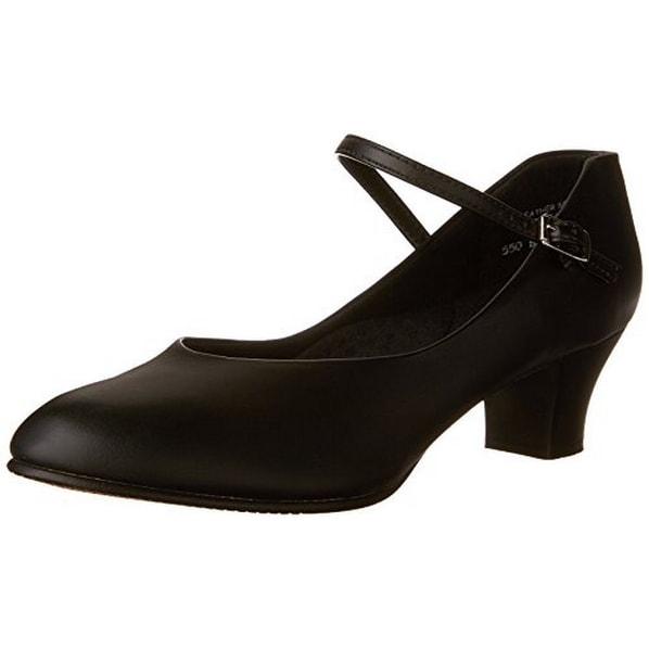 Capezio Women's Jr. Footlight Character Shoe,Black,9 M Us - 9m