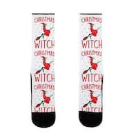Christmas Witch US Size 7-13 Socks by LookHUMAN