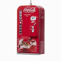 Club Pack of 24 Red and White Vintage Vending Machine with Santa Ornaments 3.75""