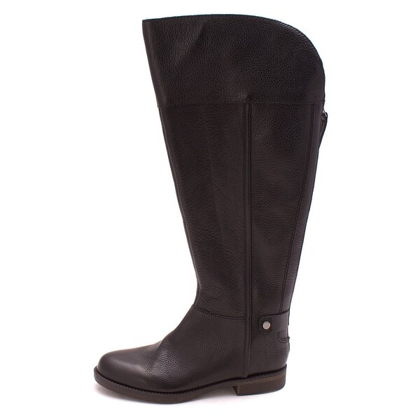 Franco Sarto Womens Christn WC Leather Almond Toe Knee High Riding Boots - 5.5