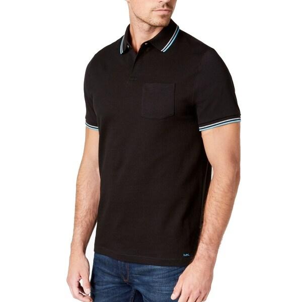 95597c004 Shop Michael Kors Black Mens Size Medium M Polo Short-Sleeve Shirt ...
