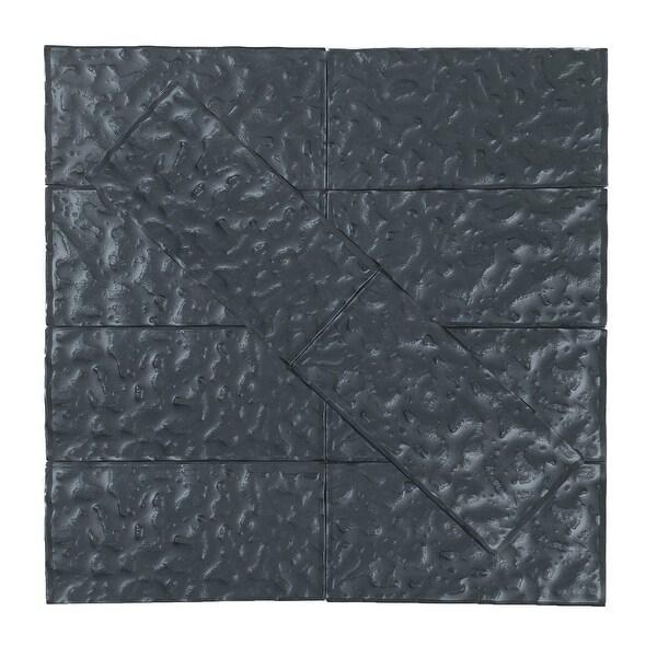 "Miseno MT-WHSMTW0306-CF Metallics - 3"" x 6"" Rectangle Wall Tile - Semi-Gloss Visual - Gray"