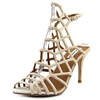 Steve Madden Flither Women Open-Toe Leather Heels