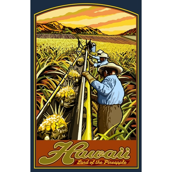Hawaii - Pineapple Harvest - Lantern Press Artwork (Keepsake Tin) - keepsake tin