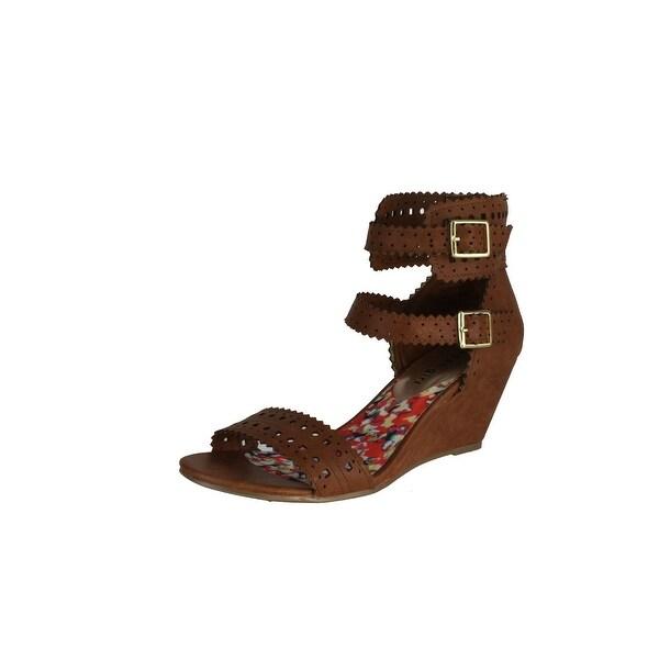 Madden Girl Womens Halt Fashion Wedge Sandals - Black - 6 b(m) us