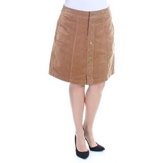 CHARTER CLUB $45 Womens New 1340 Beige Button Front Corduroy Pencil Skirt 10 B+B