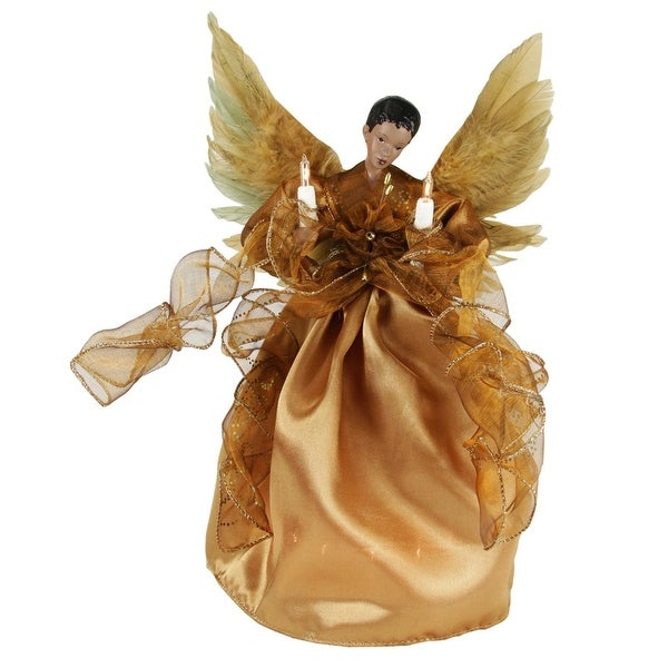Shop 13 Lighted African American Golden Winged Angel Christmas Tree