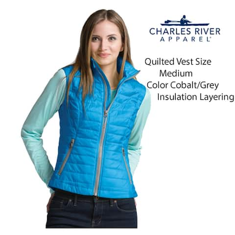 Women's Quilted Insulated (Size S) Vest, Cobalt Blue