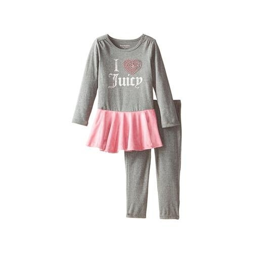 48ed192b7 Shop Juicy Couture Girls 4-6X Peplum Tunic Legging Set - Free Shipping On  Orders Over $45 - Overstock - 18822446