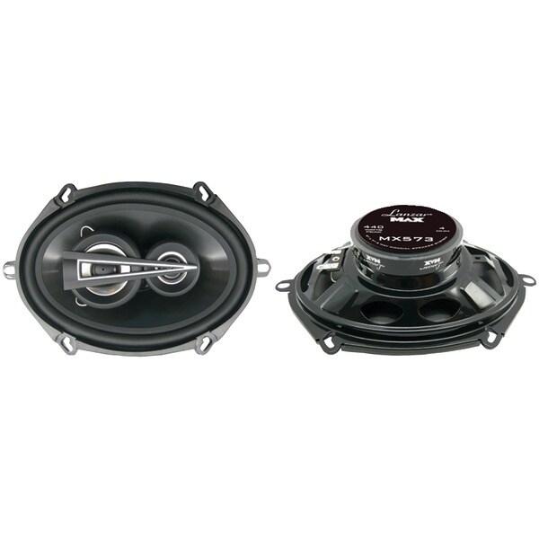 """LANZAR MX573 MAX Series 3-Way Triaxial Speakers (5"""" x 7"""", 440 Watts)"""
