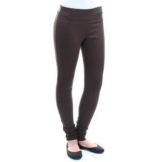 Womens Brown Wear To Work Leggings Size 2